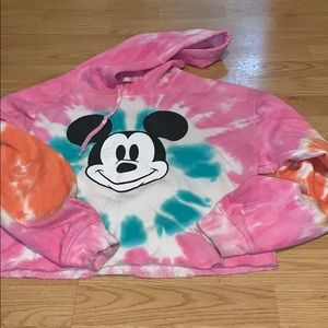 Crop Mickey Mouse Hoody